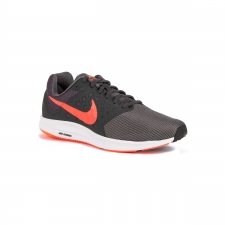 Nike Zapatillas Downshifter 7 Dark Grey Total Crimson Gris Hombre