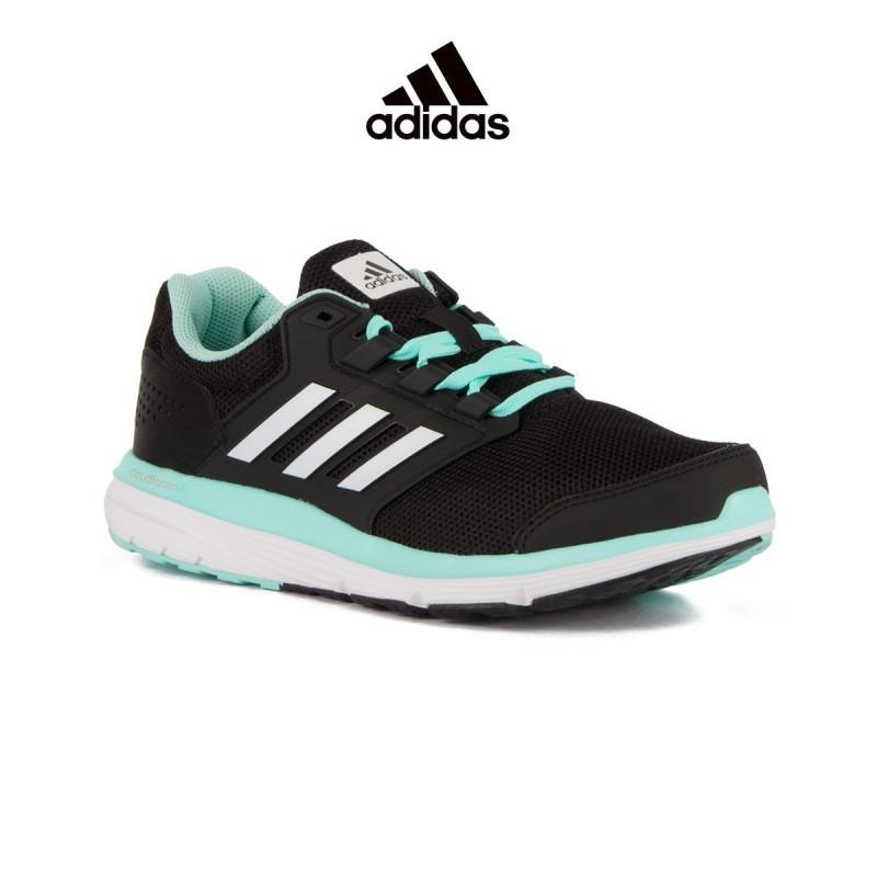 4 W Adidas Galaxy Negro Turquesa Mujer U5qRxq7w
