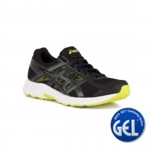 Asics Gel Contend 4 Black Energy Green Negro Lima Hombre
