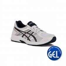 Asics Gel Contend 4 White Black Insignia Blue Blanco Hombre