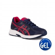 Asics Gel Contend 4 Indigo Blue Cosmo Pink Azul Rosa Mujer