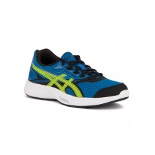 Asics Stormer GS Imperial Safety Yellow Black Azul Amarillo Niño