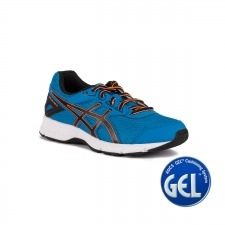Asics Gel Galaxy 9 GS Directorie Blue Black Hot Orange Niño