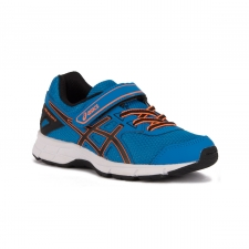 Asics Pre Galaxy 9 PS Directorie Blue Black Hot Orange Azul Naranja Niño