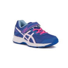Asics Pre Galaxy 9 PS Blue Purple White Airy Blue Azul Rosa Niño