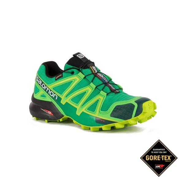 2bfdb4caabf2 Salomon Zapatilla Speedcross 4 GTX Athletic Green X Peppermint Verde Hombre