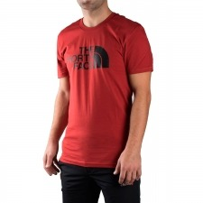 The North Face Camiseta Easy Tee Cardinal Red Rojo Negro Hombre