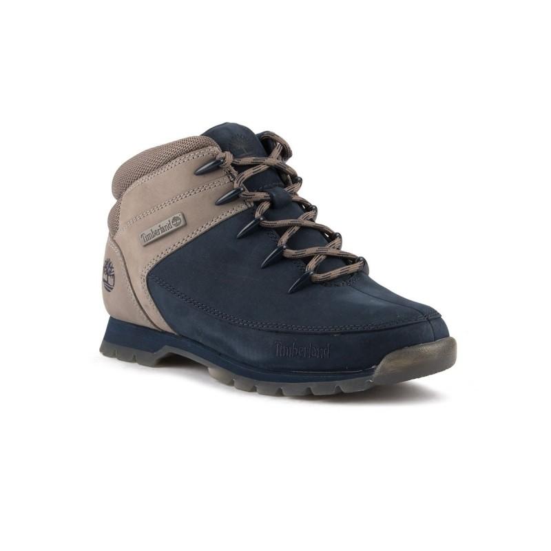 Timberland Bota Euro Sprint Hiker Black Iris Azul Gris Hombre