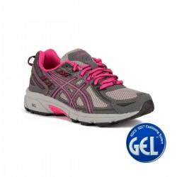 Asics Gel Venture 5 Carbon Black Sport Pink Gris Rosa Niño