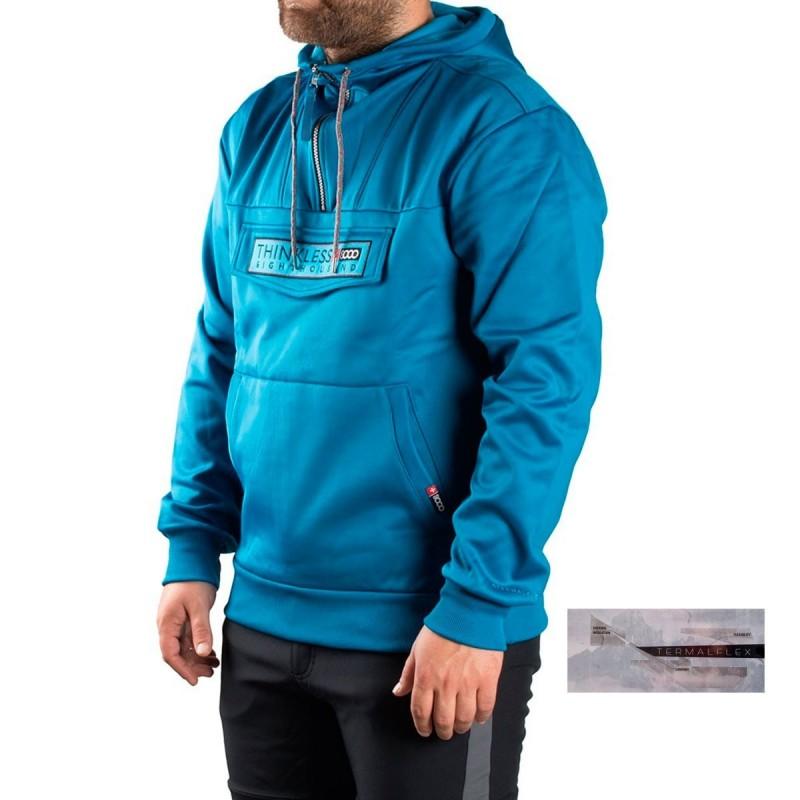 +8000 Sudadera Canguro Ibon Pato Azul 17I Hombre