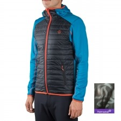 Ternua Fibra Steilli Hybrid Hood A Negro Azul Hombre