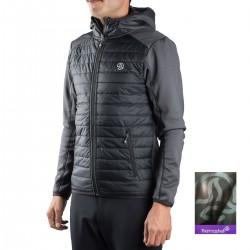 Ternua Fibra Steilli Hybrid Hood B Negro Hombre