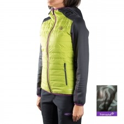 Ternua Fibra Kore Hybrid Hood A Verde Mujer