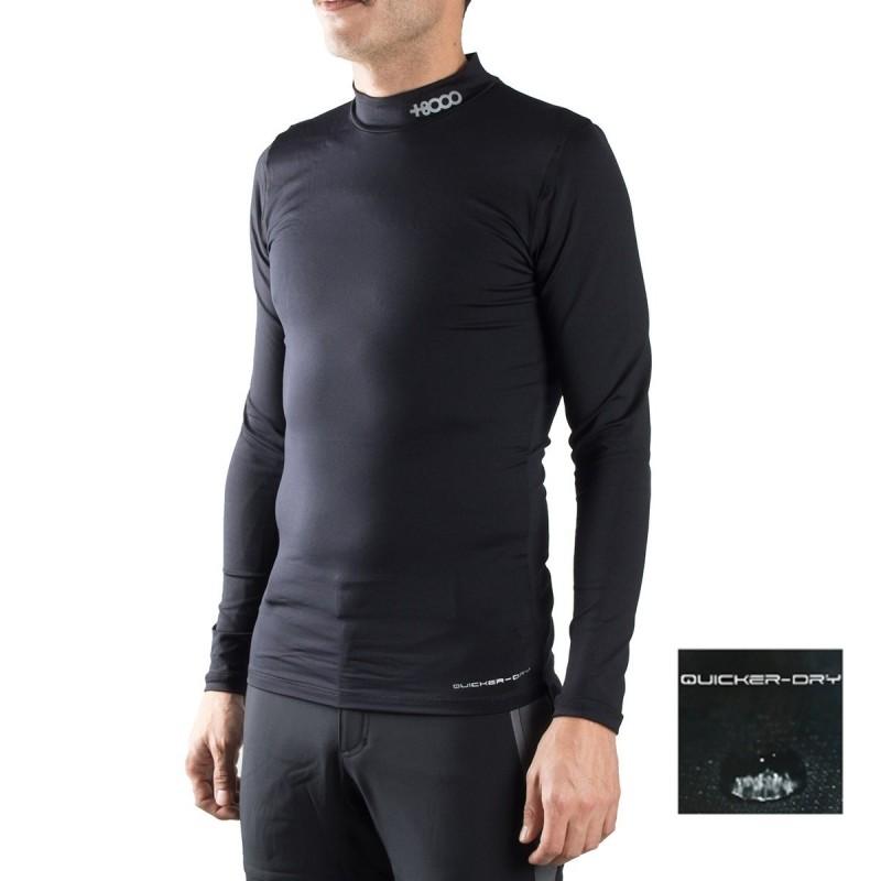 +8000 Camiseta térmica de compresión Gessi 17I Negro Hombre