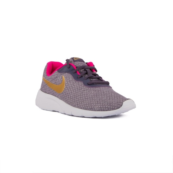 Nike Tanjun GS Morado Dorado Dark Raisn Metallic Gold