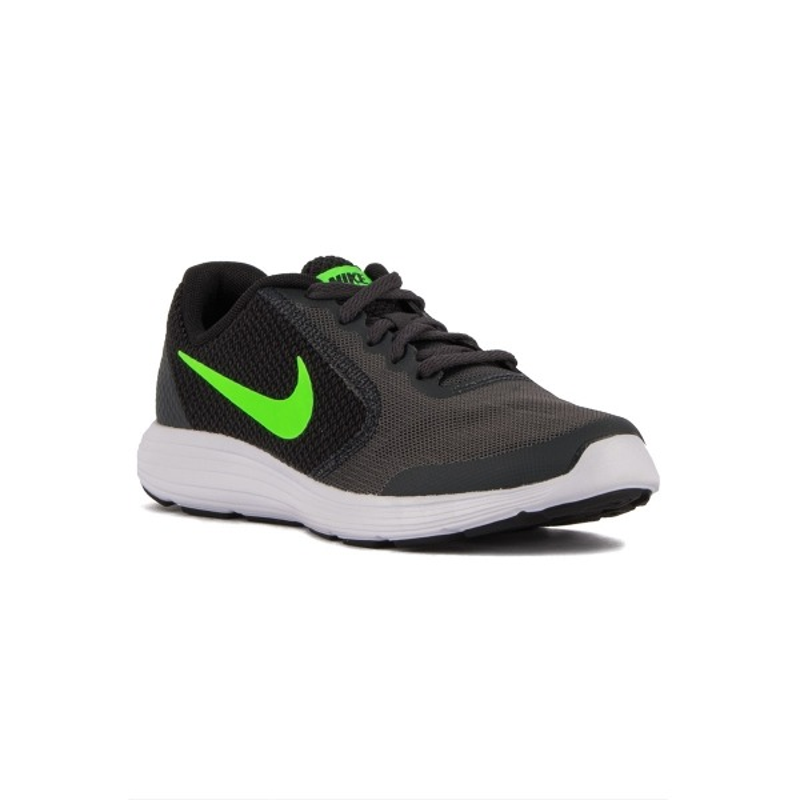 Nike Revolution 3 GS Gris Verde Anthracite Green Negro Niño