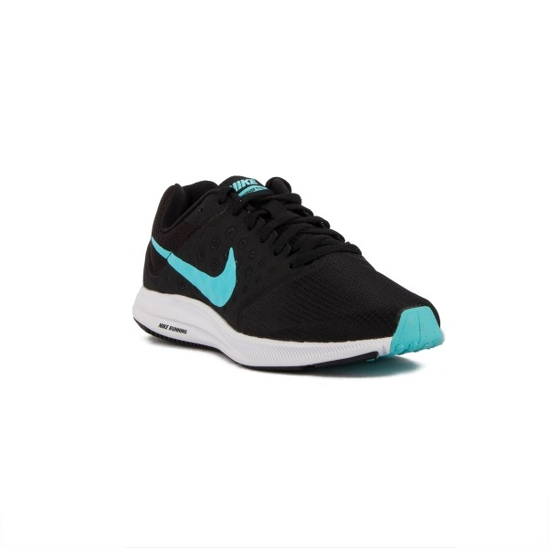 Nike Wmns Downshifter 7 Negro Azul Black Polarized Blue Mujer