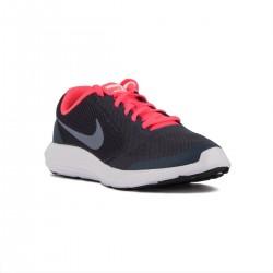 Nike Revolution 3 GS Azul Rosa Thunder Blue Dark Sky Niño