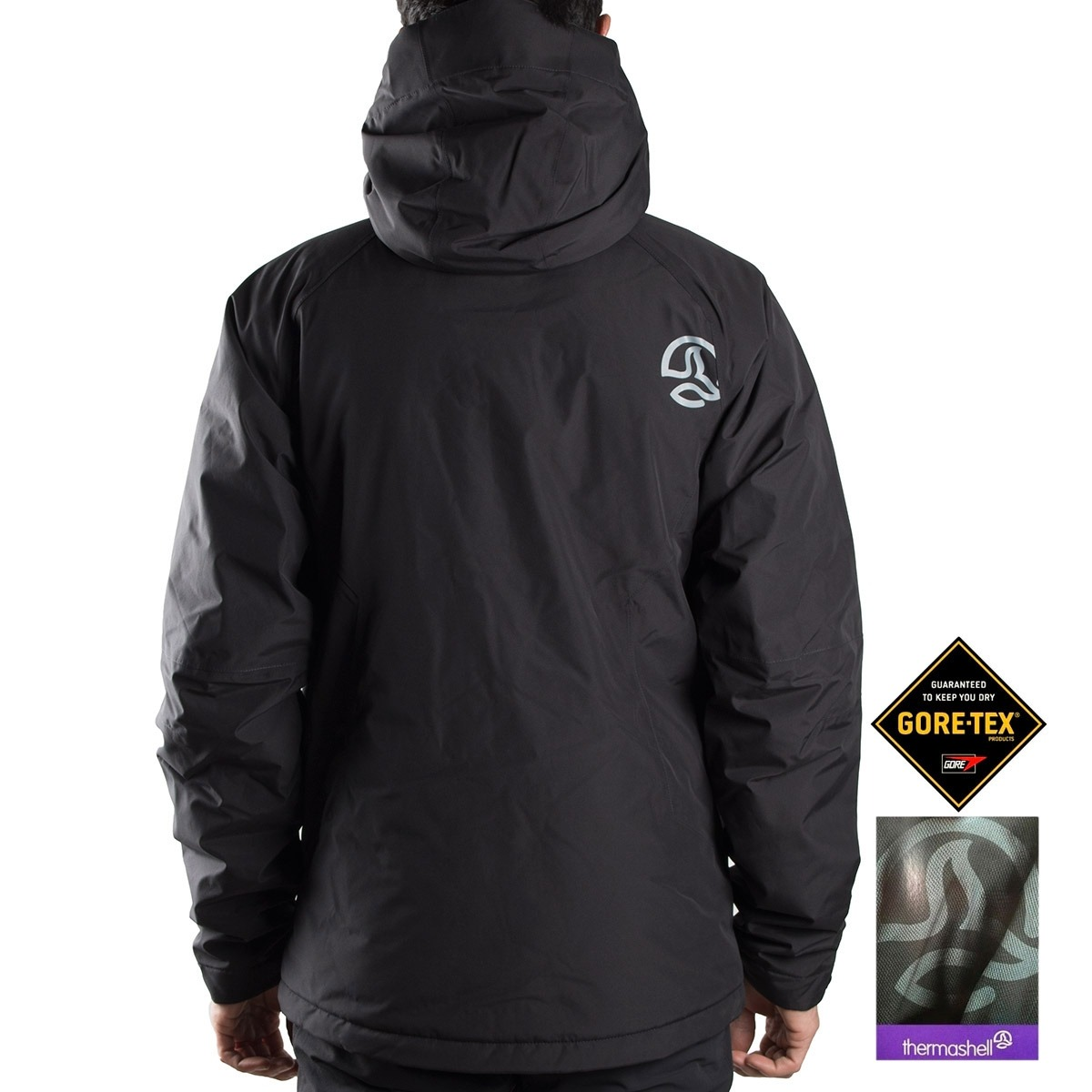 Ternua Chaqueta Gore-Tex Thermashell Tree Hill A negro Hombre