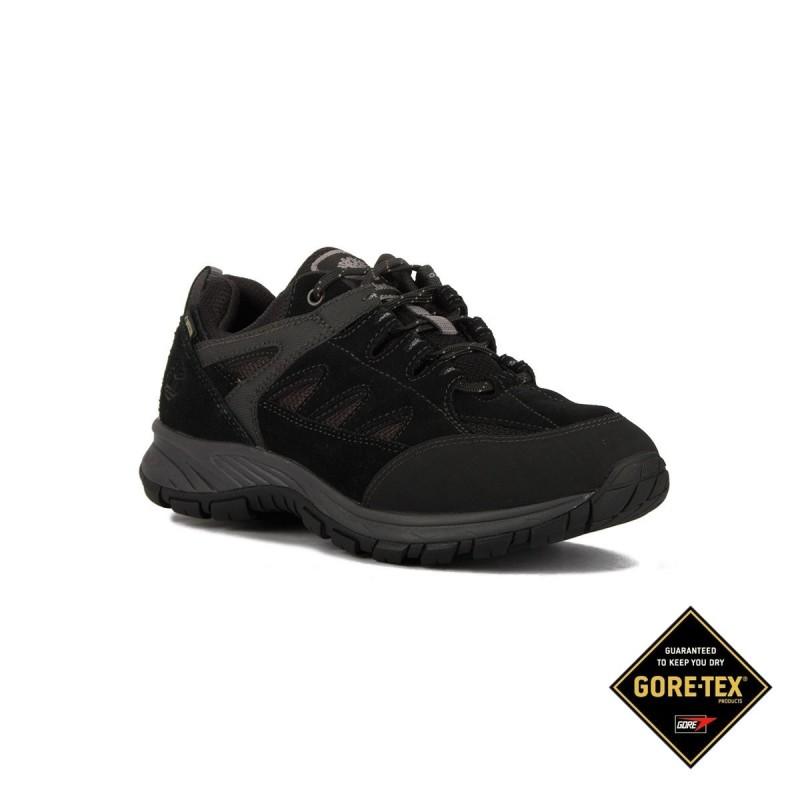 Timberland Zapatilla Sadler Pass Leather Fabric Low GTX Black Hombre