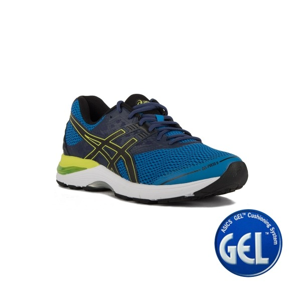 reputable site 87ee1 dca7f Asics Gel Pulse 9 Directoire Blue Black Indigo Blue Hombre