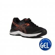 Asics Gel Pulse 9 Black Flash Coral Carbon Mujer