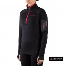 Trangoworld Pullover TRX2 Stretch Negro Rosa Mujer