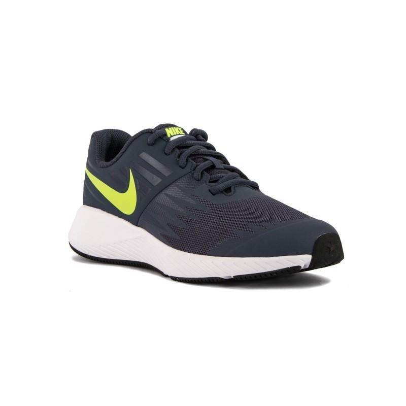de5e62846a1b3 Nike Star Runner GS Thunder Blue Azul Verde Niño