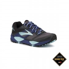 Brooks Cascadia 12 GTX Black Ebony Clematis Blue Mujer