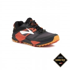 Brooks Cascadia 12 GTX Black Ebony Cherry Tomato Hombre