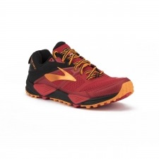 Brooks Cascadia 12 Red Black Orange Hombre