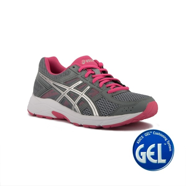 Zapatos grises Asics Gel Contend para mujer