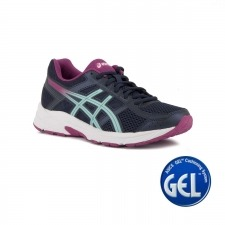 Asics Gel Contend 4 Peacoat Porcelain Blue Azul Rosa Mujer