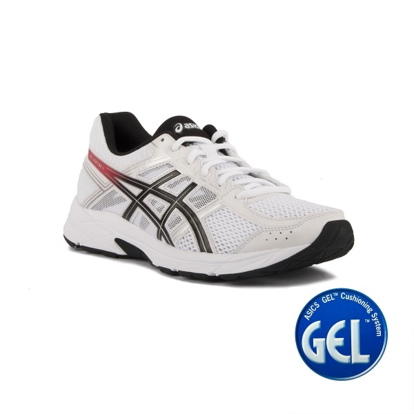 Asics Gel Contend 4 White Red Blanco Rojo Hombre