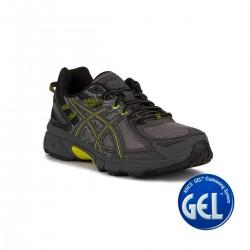 Asics Gel Venture 6 Stone Grey Gris Amarillo Hombre