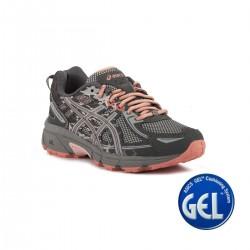 Asics Gel Venture 6 GS Carbon Mid Grey Pink Gris Rosa Niño