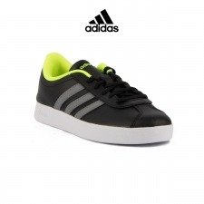 ADIDAS Vlcourt 2.0 K Black Grey White Niño