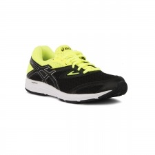 Asics Amplica GS Black Safety Yellow Negro Amarillo Niño