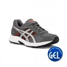 Asics Gel Contend 4 Carbon Silver Shocking Orange Hombre