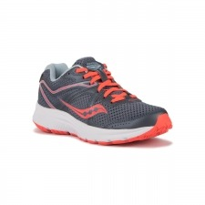 Saucony Grid Cohesion 11 Grey Viz Red Gris Coral Mujer