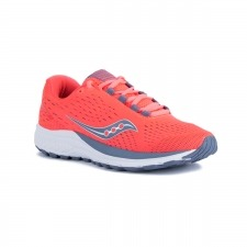 Saucony Jazz 20 Vizi Red Grey Coral Gris Mujer