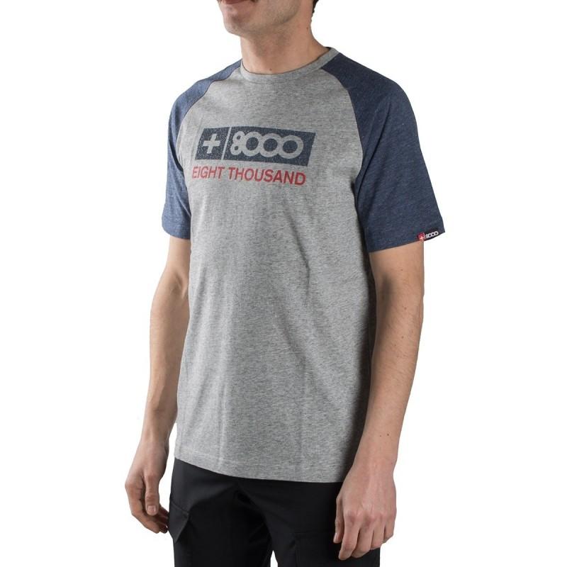 +8000 Camiseta Gardner 18V Bicolor Ceniza Vigore Azul Hombre
