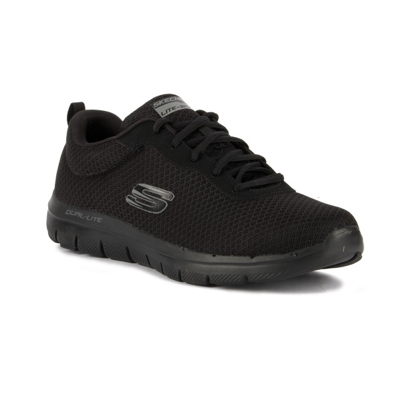 Skechers Flex Advantage 2.0 - Zapatillas Hombre, Negro (Negro (BKW)), 39