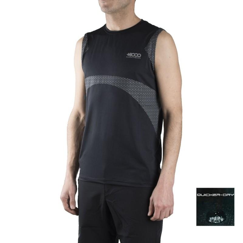 +8000 Camiseta técnica de tirantes Nun 18V Negro Hombre