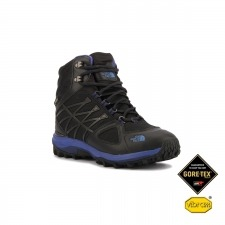 The North Face Bota Ultra Extreme II GTX Black Blue Iris Negro Morado Mujer