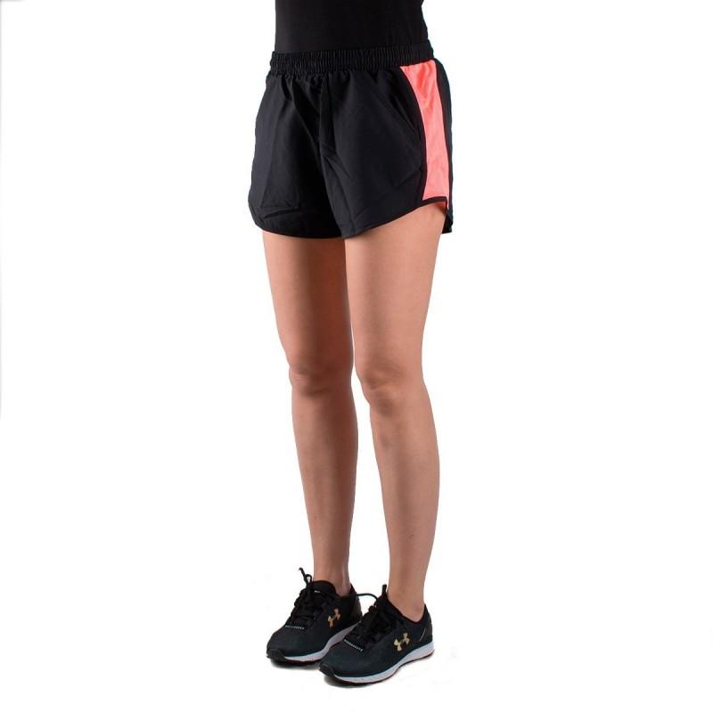 2420524636017 Under Armour pantalón corto UA Fly-By negro rosa mujer