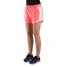 Under Armour pantalón corto UA Fly-By rosa fluor blanco mujer
