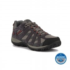 Columbia Zapatilla Redmond Waterproof Charcoal Garnet Red Hombre