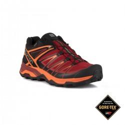 Salomon Zapatilla trailrunning X Ultra 3 GTX Black Red Dalhia Rojo Naranja Goretex Hombre
