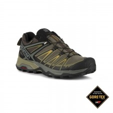 Salomon Zapatilla trailrunning X Ultra 3 GTX Castor Grey Green Kaki Goretex Hombre